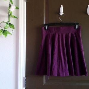 Plum Purple Box Pleat Mini Skirt